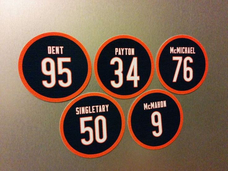 Chicago Bears 1985 Team Magnets - Payton, McMahon, Dent, Singletary McMichael #ChicagoBears