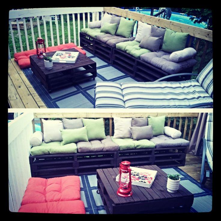 17 best ideas about palette couch on pinterest pallet for Divan palette