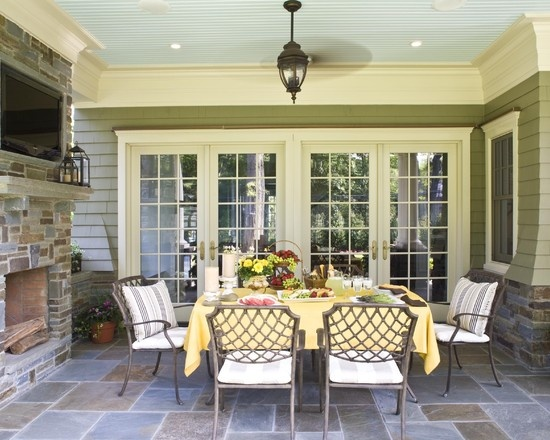 Back Porch Ideas Screen Porch Interior Photos Traditional