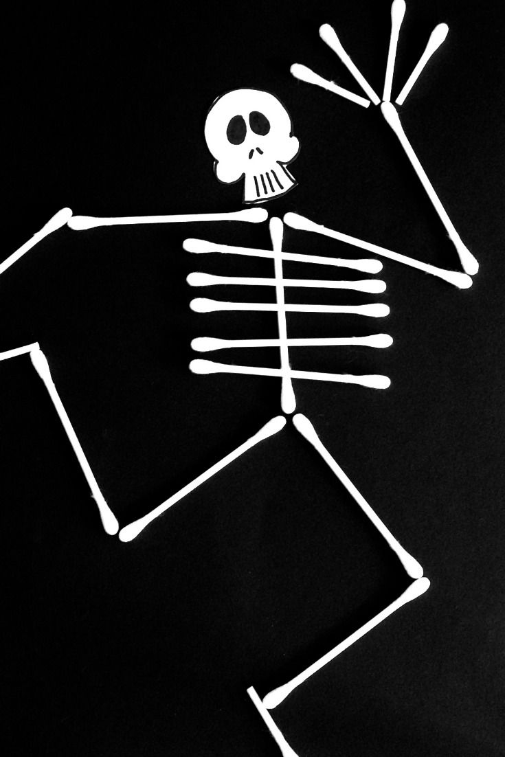 Cotton tip skeleton pinterest crafts things to do and for Q tip skeleton template