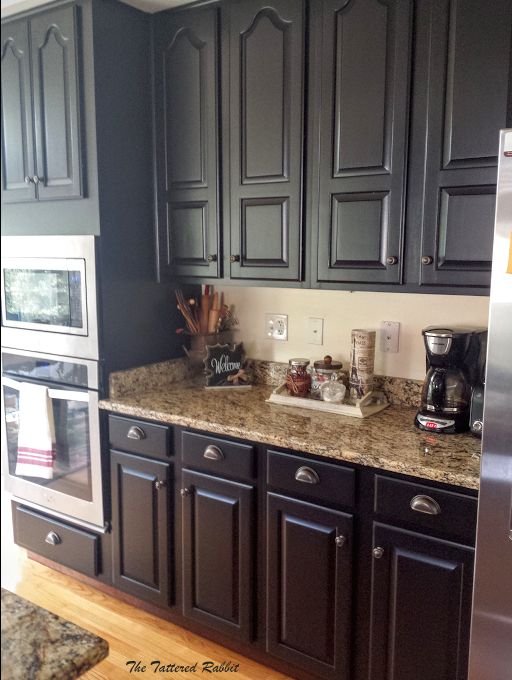 how to paint raised panel kitchen cabinet doors cherry cabinets kitchen black kitchen cabinets on c kitchen id=25933
