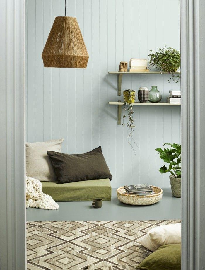 Wohnzimmer Lampen Leuchten Trends 2018 Stilmix Perser Teppich Pastellfarbe