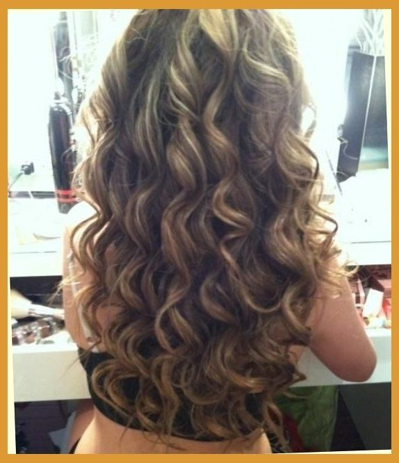 brown amp blonde smokey curls hairstyles