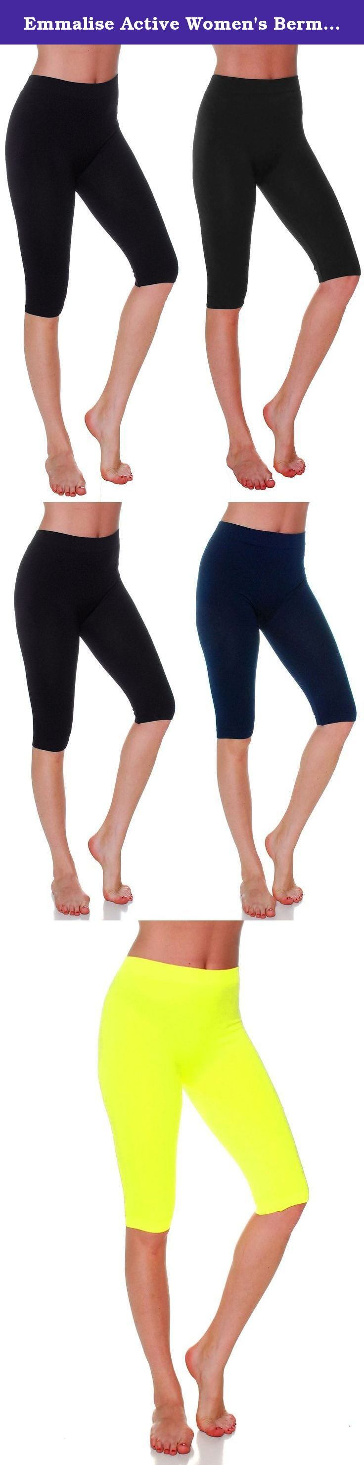 Emmalise Active Women's Bermuda Capri 17 in Knee Length Seamless Legging. Great basic seamless capri bermuda pants leggings Perfect layering shorts. Excellent for exercising, working out, yoga, running, jogging and any activities. Comfortable featherweight elastic material. Smooth and soft. Emmalise is a progressive active basic apparel line designed in Los Angeles, California. Our focus is to create high quality, comfortable everyday clothing for women, men, children, and infants. Our...