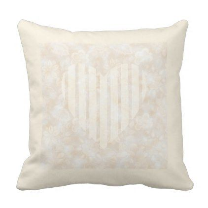 Antique White Floral Design  Cotton Pillow (D#3) - valentines day gifts love couple diy personalize for her for him girlfriend boyfriend