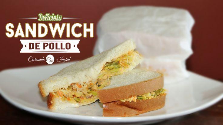 receta de Sandwich de pollo Salvadoreños, Receta facil salvadoreña, cocinando con ingrid. recetas latinas, panes con pollo