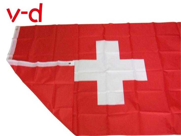 Schweizer Flagge Fahnen u. Fahnen Material: Polyester Größe: 90 cm x 150 cm