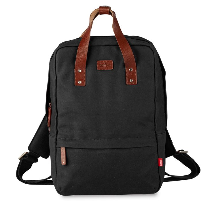 Navy Centennial Backpack #13inch #macbook #waxedcanvas #leather  Shop here >> http://www.toffeecases.com/en/home/49-centennial-backpack.html#/size-13_macbook_pro_w_retina/color-black_canvas