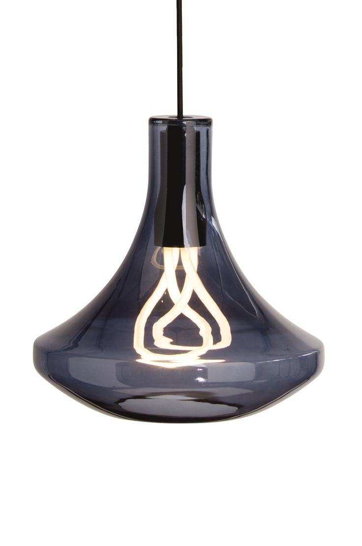 Plume Pendant Light with 001 Plumen Bulb, in Smoke Blue. Energy efficient elegance. £99. MADE.COM