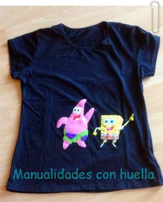 Manualidades con huella: Camisetas decoradas