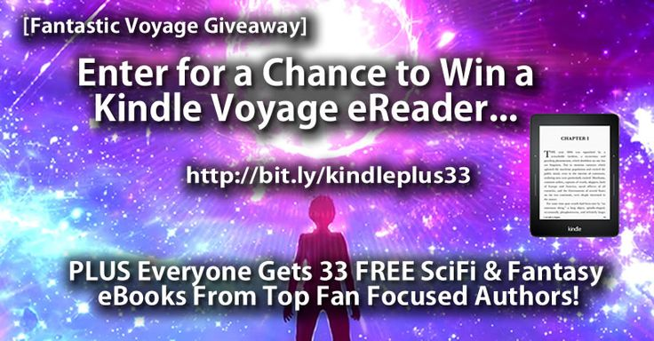 Win a Kindle Voyage eReader PLUS 33 SciFi and Fantasy eBooks!  Connect here:http://billhargenraderauthor.com/giveaways/win-a-kindle-voyage-ereader-plus-33/?lucky=413