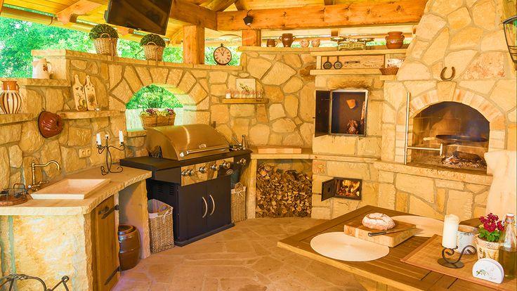Kamenná kuchyně La Provence pohled 2