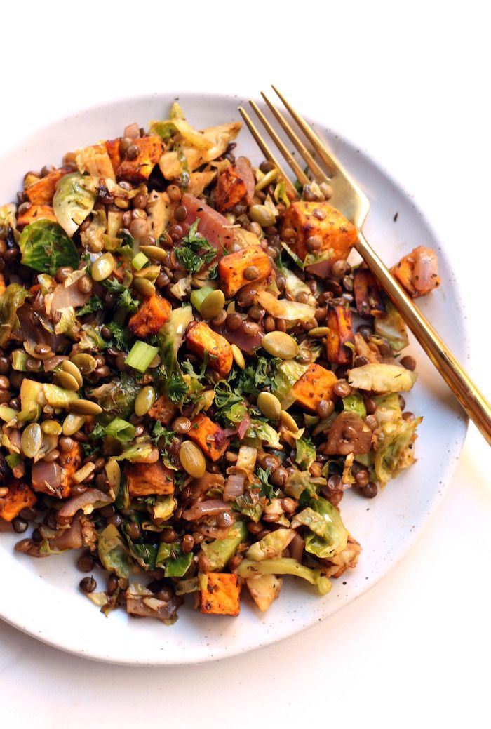 This hearty Loaded Lentil Salad is packed with protein, fiber, and warm veggies like roasted sweet potatoes, red onion, and Brussels sprouts. Perfect for a light lunch! Vegan and gluten-free. Don't you just hate when a personal chef arrives at your doorstep? THE WORST. Not! I mean that's basically what HelloFresh is, right? Like yeah sure, go ahead and pick some healthy and delish recipes and while you're at it, go grocery shopping for me and oh yeah,... Read More »