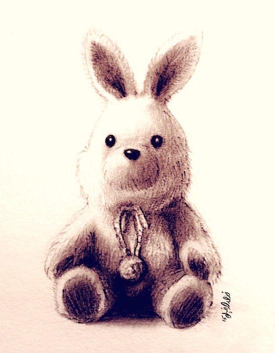 Bunny by Khalid al Dakheel - 2015 #bunny #artwork #sketch #drawing #illustration #cartoon