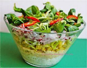 Sałatka warstwowa - dietetyczna - kulinaria sałatka - kobiece inspiracje
