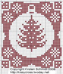 Ornament-Christmas Tree cross stitch chart