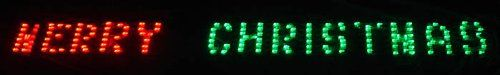 "$39.99-$44.99 80"" x 6"" Merry Christmas LED Lighted Holiday Banner - Red & Green Chasing Lights - ""Merry Christmas"" Lighted Holiday Banner Sign Item #N9604G14  Features: Color: red and green bulbs / black wire Comes with 163 pre-attached lights Bulb size: M5 (mini bulb) Spacing between each bulb: .5 inches  48 inch black lead cord  Additional product features: LED lights use 90% less energy  Stur ..."