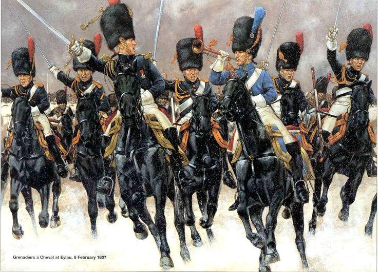 Los Granaderos a Caballo de la Guardia Imperial en la famosa carga en Eylau Más en www.elgrancapitan.org/foro