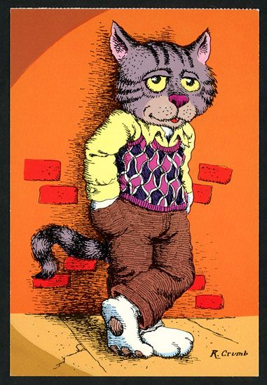 Fritz the Cat - Robert Crumb postcards