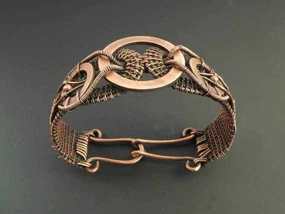 Copper Jewelry Copper Bracelet Link Bracelet Wire Jewellery Wire Wrapped Jewellery Copper Bracelet Arthritis Bracelet Jewellery
