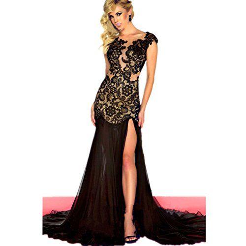 Sexy Bodycon Lace Prom Dresses Sheer See Throurh Long Bridal Evening Gowns (16, Black) G-dress http://www.amazon.com/dp/B00Q4ZOQDM/ref=cm_sw_r_pi_dp_4VDKwb06YZ30T