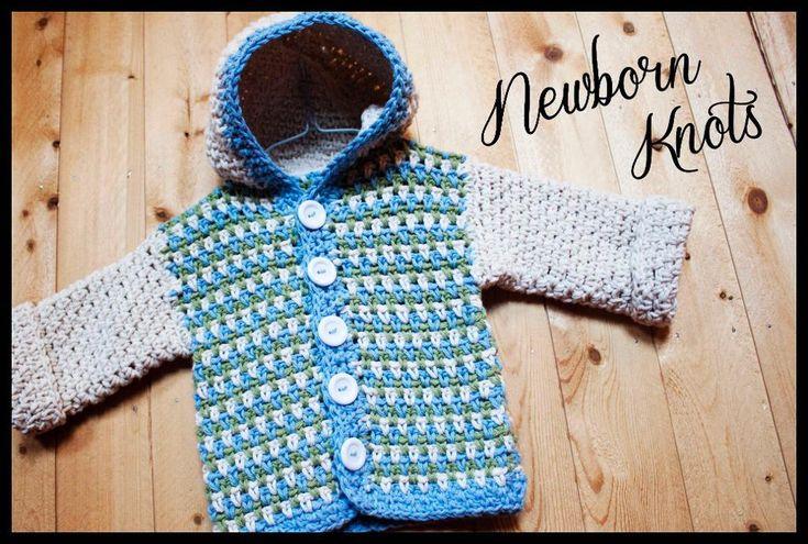 Beginner Crochet Baby Sweater Pattern : Sandstitch Hoodie Baby Sweater. #03 Crochet patterns for ...