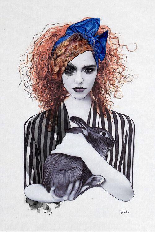 .alice in woderland fashion ilustration