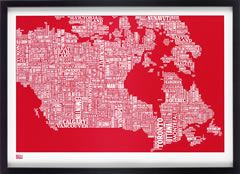 O' CanadaCanada Types, Typography Maps, Screens Prints, Poppies Red, Art, Canada Maps, Decor Screens, Maps Prints, Types Maps
