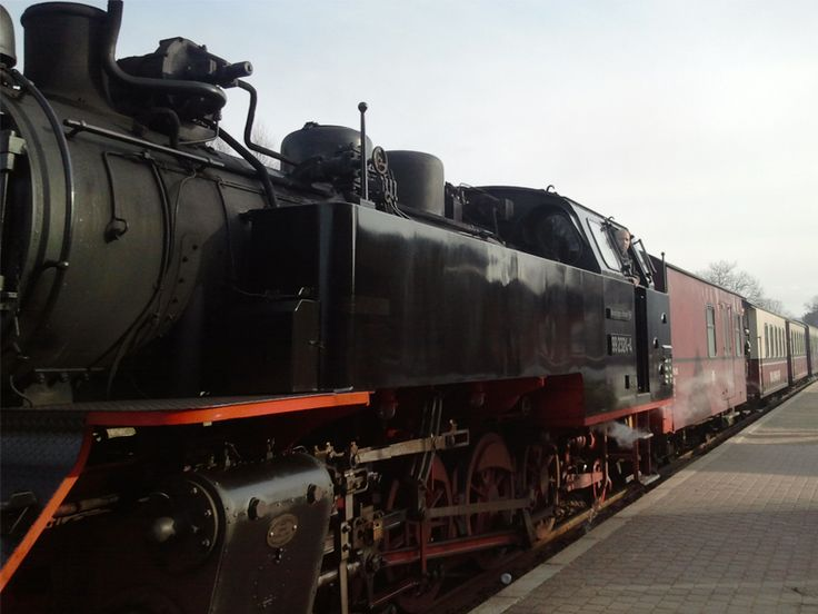 Die Mecklenburgische Bäderbahn Molli - Das Dampfzug-Erlebnis an der Ostseeküste. Die Bäderbahn Molli, auch Der Molli oder Molli genannt, ist eine dampfbetriebene Schmalspurbahn in Mecklenburg-Vorpommern. Die 15,4 Kilometer lange Strecke verbindet Bad Doberan mit Heiligendamm und dem Ostseebad Kühlungsborn. Die Fahrzeit beträgt circa 40 Minuten. Innerhalb Bad Doberans fährt die Bahn auf Rillenschienen.