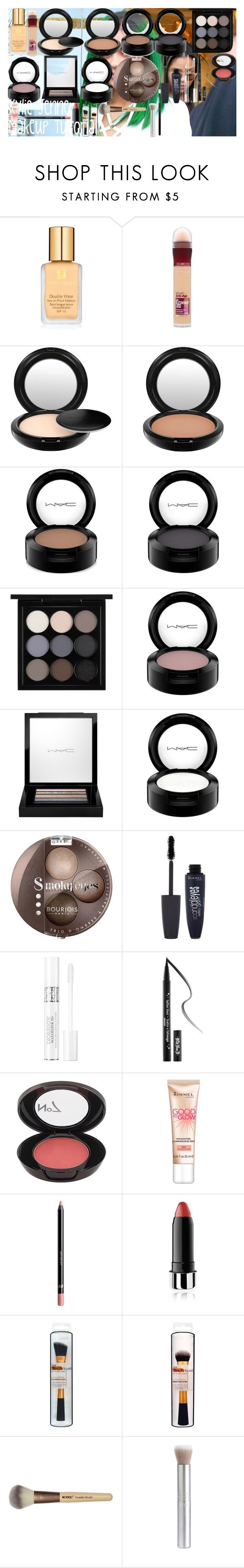 """Kylie Jenner Makeup Tutorial"" by oroartye-1 on Polyvore featuring beauty, Estée Lauder, Maybelline, MAC Cosmetics, Bourjois, Rimmel, Christian Dior, Kat Von D, Boots No7 and H&M"
