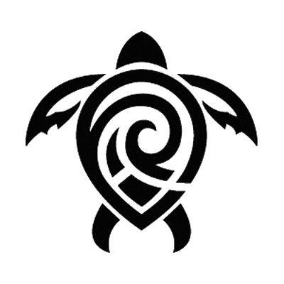 Tribal sea turtle.