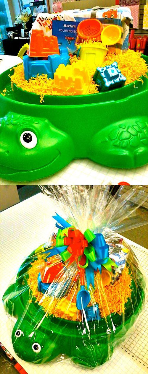 Kids birthday basket! Lisa's Gift Wrappers