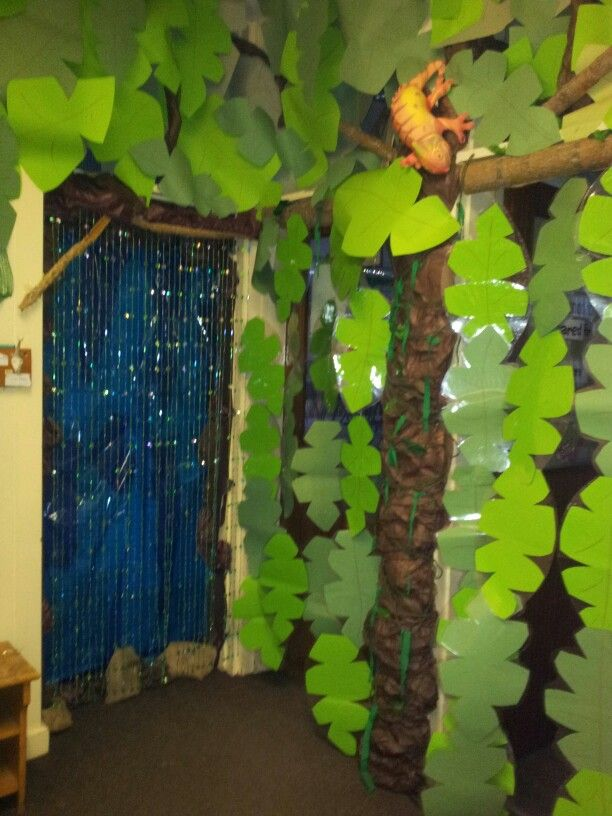 Classroom Decor Jungle ~ Spent the last day of christmas hols creating a rainforest