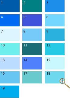 Синие оттенки для цветотипа весна