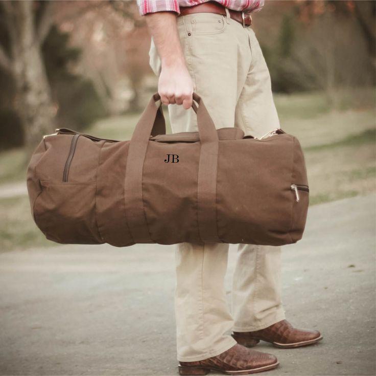 Groomsmen Gifts – Vintage Military Duffel Travel Bag Gift