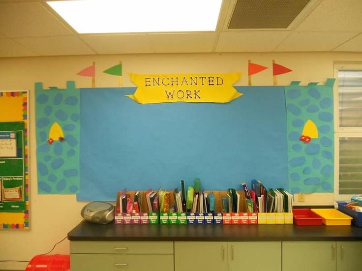Enchanted Work Board Castle Theme Classroomclassroom Decor Themes Classroom Bulletin Boardsclassroom Ideaspreschool Roomsfairy Tale
