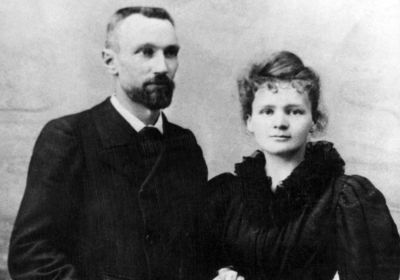 Marie and Pierre Curie.  A shared love of sciences. I admire him, for standing by and behind his wife, in a time where there was no recognition of a woman's worth.,,