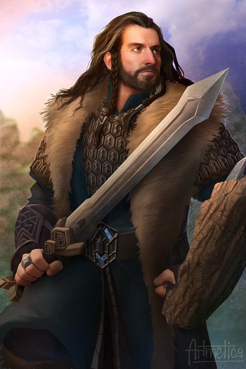 fanart of Thorin Oakenshield- wow this is amazing! (For Ginny)