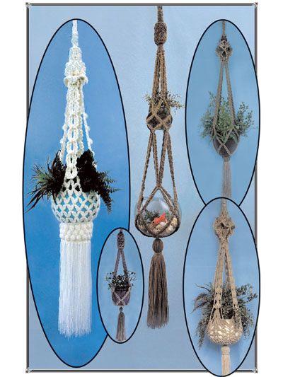 Macrame Plant Hangers in Crochet Pattern