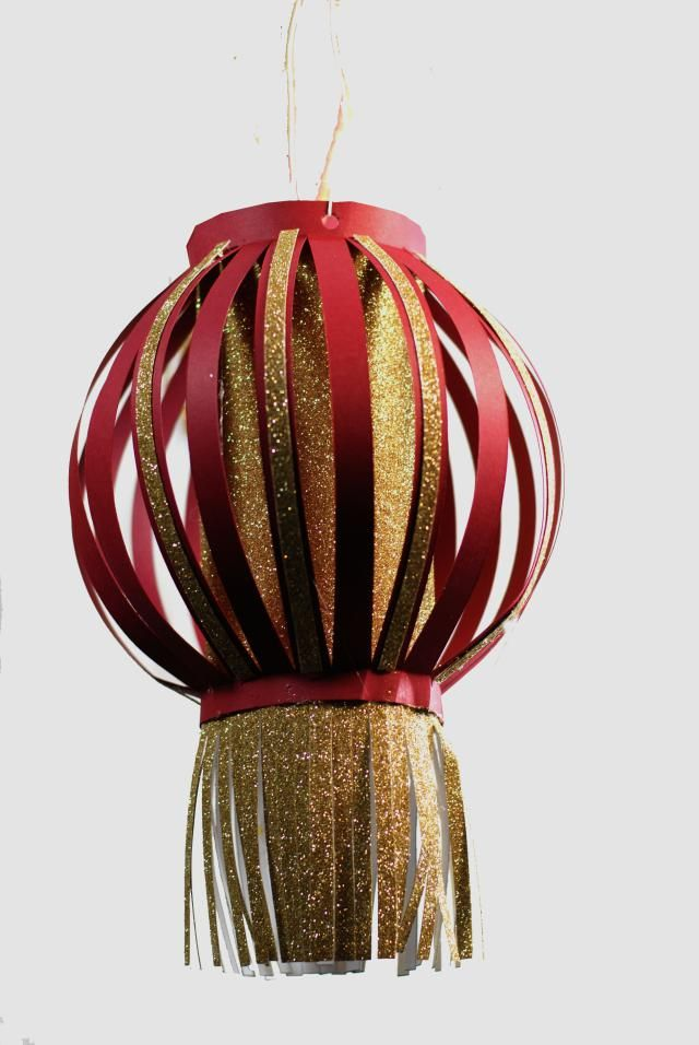 Chinese Paper Lantern Craft: How to make a Chinese Paper Lantern Craft