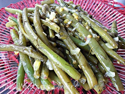Lemon Dill Green Beans with Capers