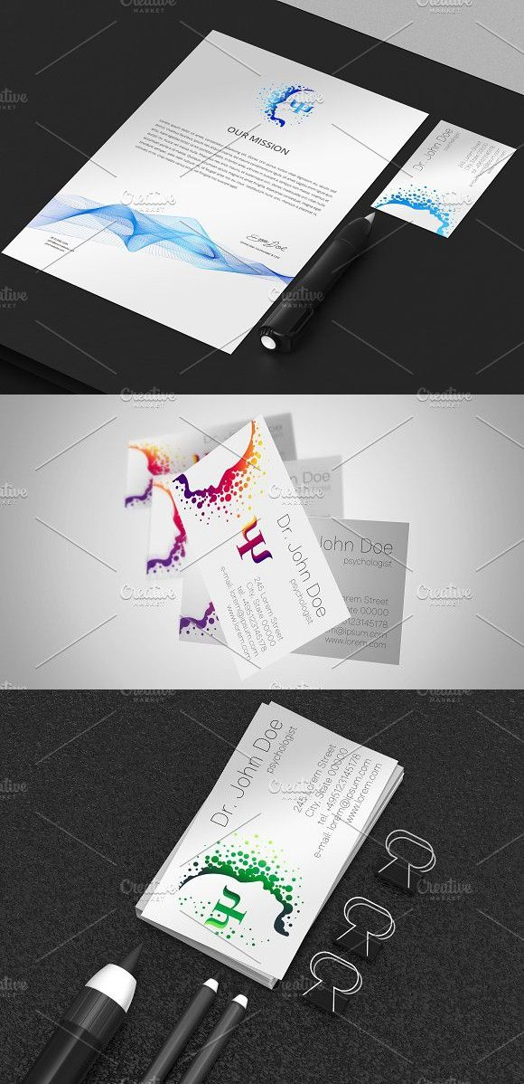 Logotype for Psychology clinic . Logo Templates