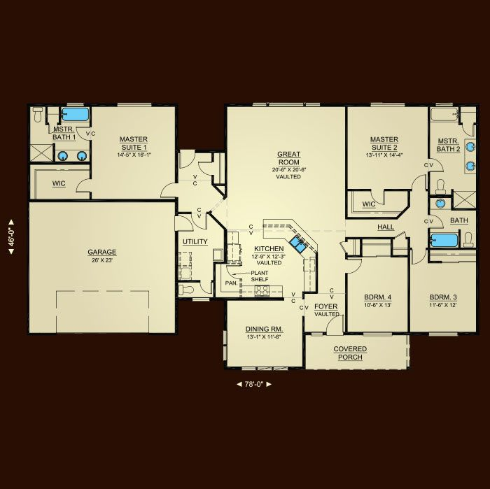 wonderful hiline homes plans #4: Properties - Plan 2494 | Hiline Homes - I really like that this one has two