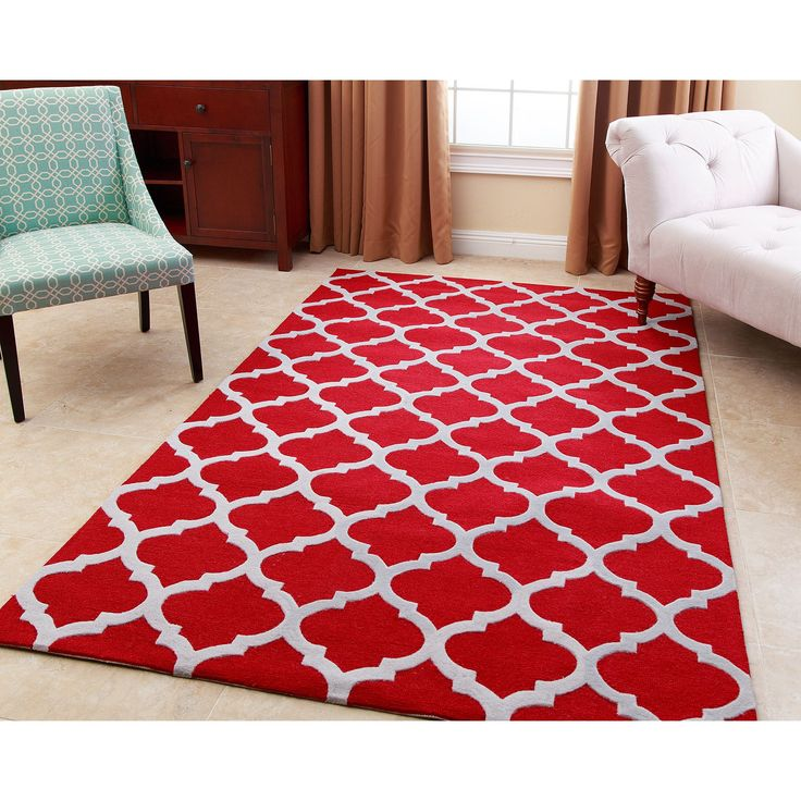 21 best red rug for dining room images on Pinterest | Burgundy rugs ...