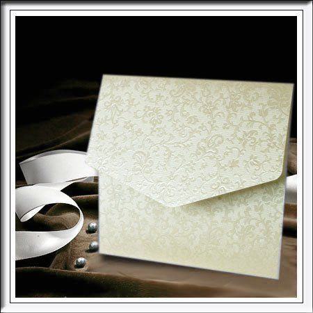 Luxury Square Pocketfold Invitations Tapestry Ivory Lique Diy Inserts Envelopes Inc High
