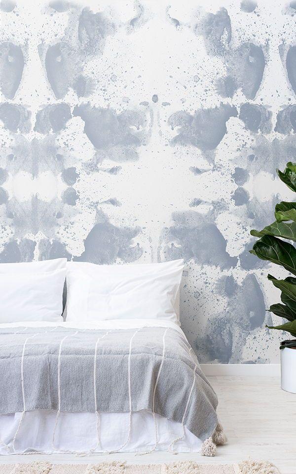 Créer un espace de chambre blanche avec des papiers peints de ...