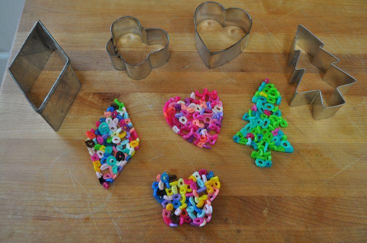 melt perler beads to make ornaments
