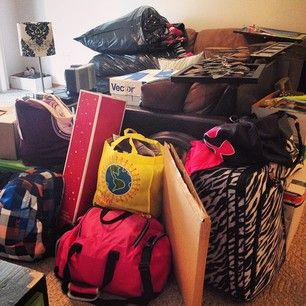 Overestimating how much you can fit in your dorm room. | 24 Rookie Mistakes Every College Freshman Makes