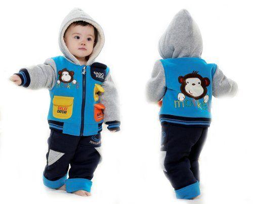 TKC Baby Girls Boys Winter Coat Monkey Fleece Set (Jacket, Pants) 9-12m Blue TKC,http://www.amazon.com/dp/B00H5T8O5M/ref=cm_sw_r_pi_dp_P6ybtb19R1AW0225