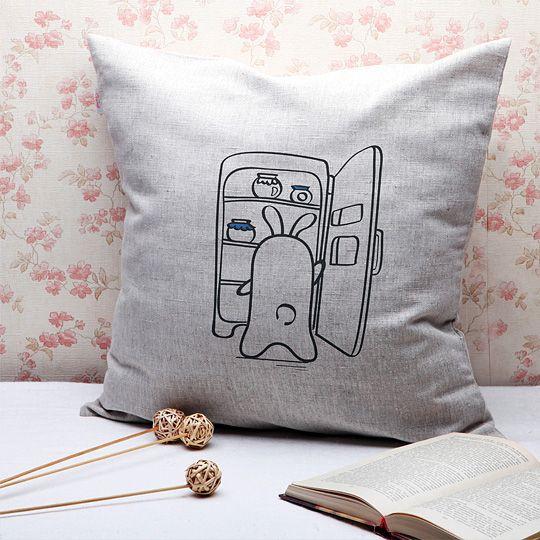 Подушка льняная 'Кроль'  / Ночь